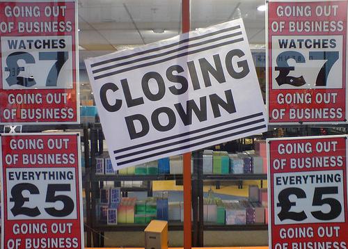 The high street closing down