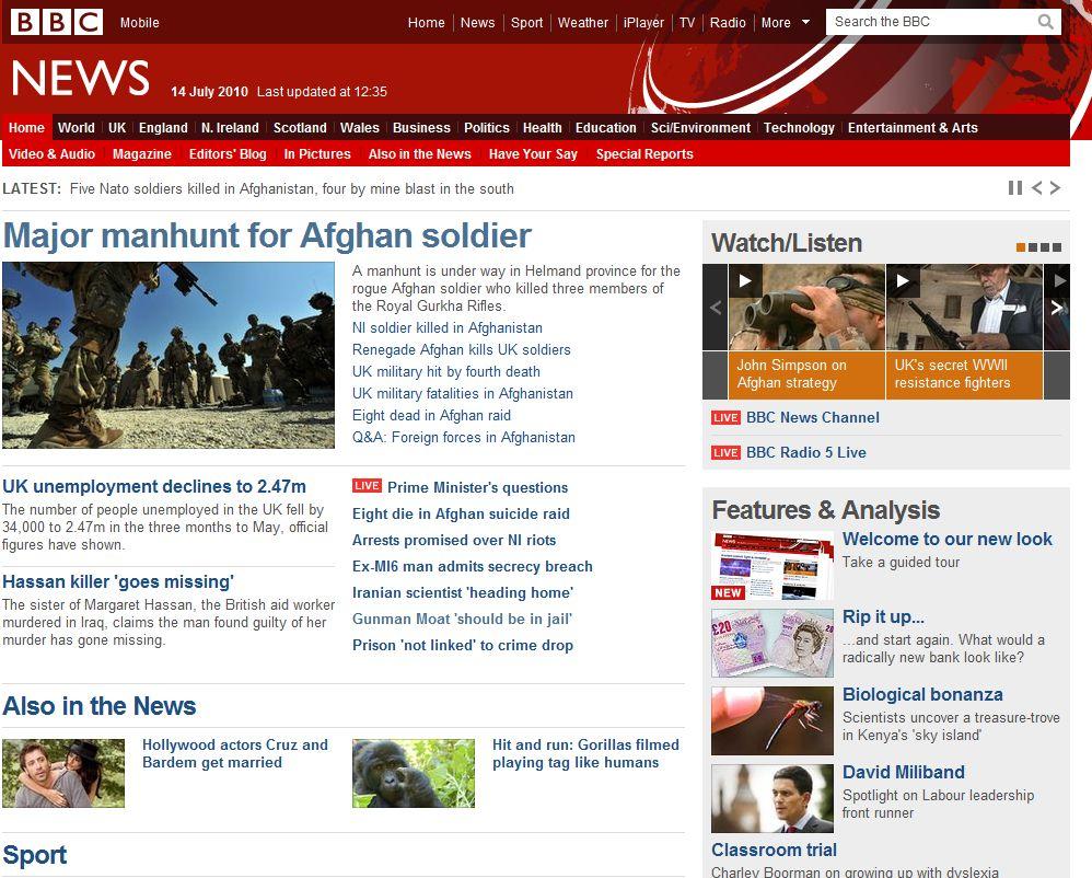 bbc home new