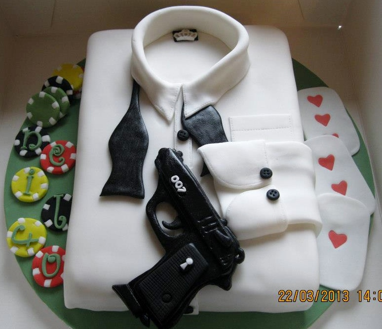 james bond cake