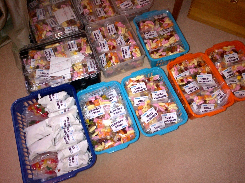 candytrix sweets packed up