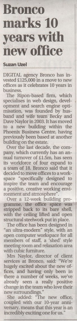 bronco yorkshire post