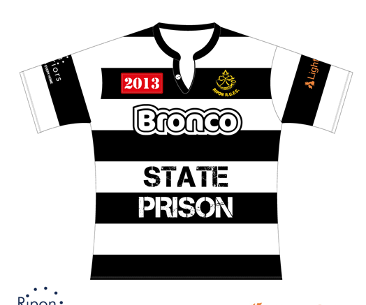 ripon rugby bronco tour shirt