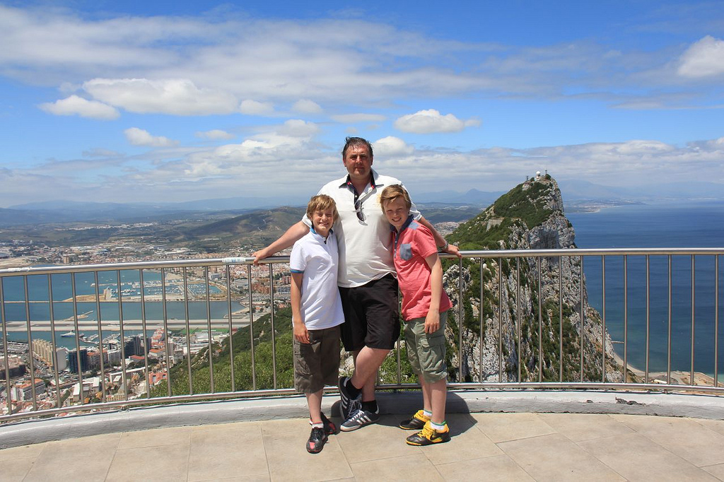 dave and the kids at Gibraltar