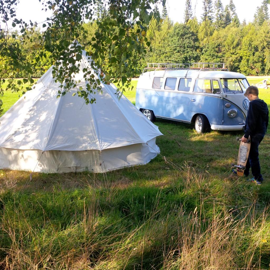 Bell tent at camphill
