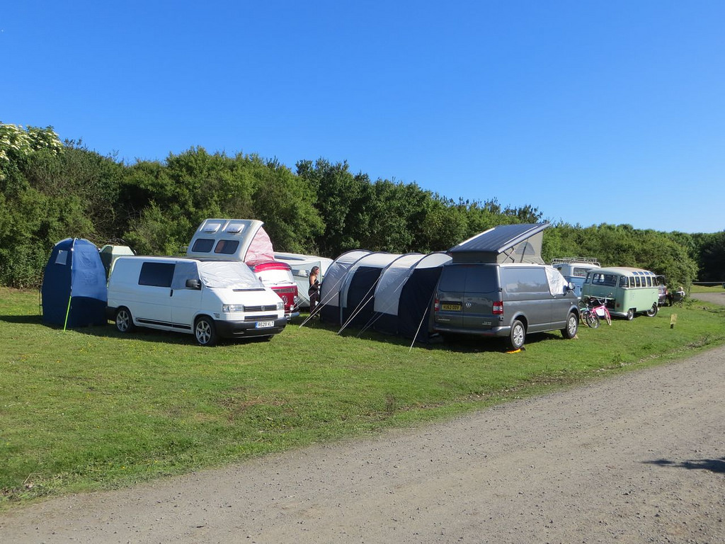camping at mighty dub fest