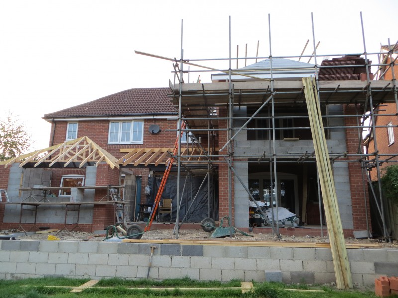 kitchen roof going on
